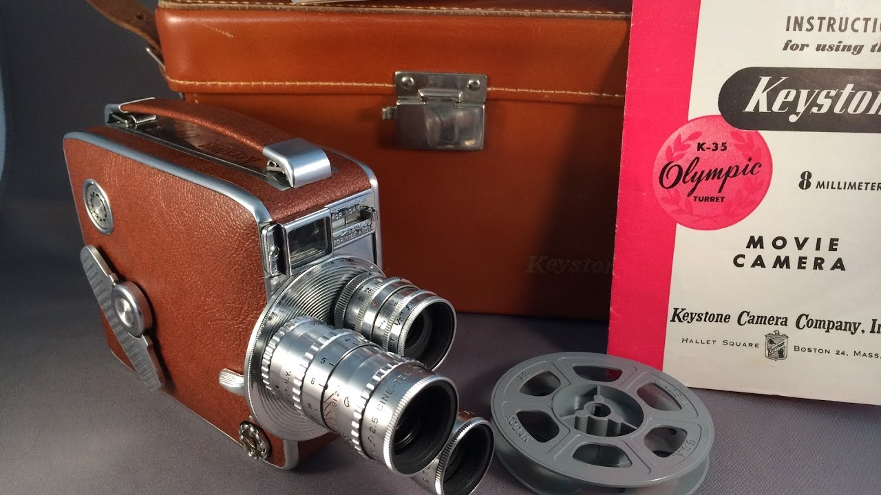 Keystone K-35 Olympic Turret 8 MM Movie Camera