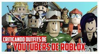 criticizes my Outfit of ROBLOX! CRITICIZING outfits from Youtubers of roblox in Spanish | Samymoro