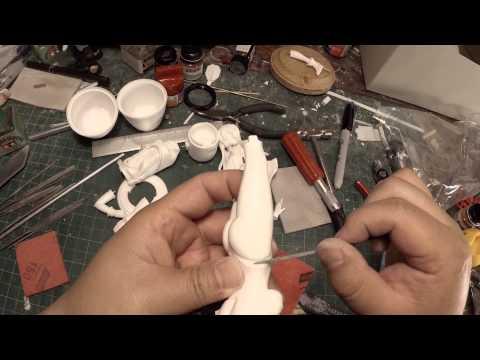 Resin Figure Model Building: Initial Sanding