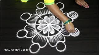 Friday rangoli n kolam designs * freehand muggulu * simple n easy arts