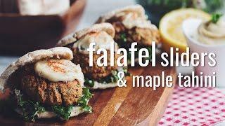 FALAFEL SLIDERS & MAPLE TAHINI   hot for food