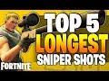 5 Longest Fortnite SNIPER RIFLE SHOTS! - Fortnite Battle Royale - Top 5 (Episode 12)
