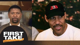 Jalen Rose on LaVar Ball: He is just talking to be heard with Lakers threats | First Take | ESPN