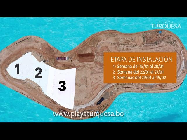 3ra Semana de Instalación de la Geomembrana - Playa Turquesa