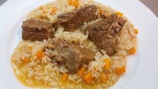 Receita de arroz de carne com cenoura by necasdevaladares