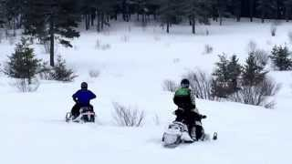 Out riding the Arctic Cats!