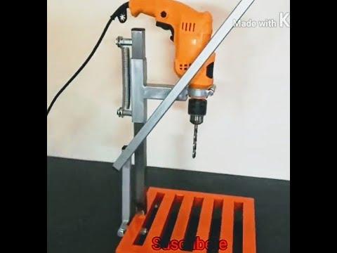 Como hacer Taladro pedestal casero muy fácil de hacer y útil para soldsdores y herreros