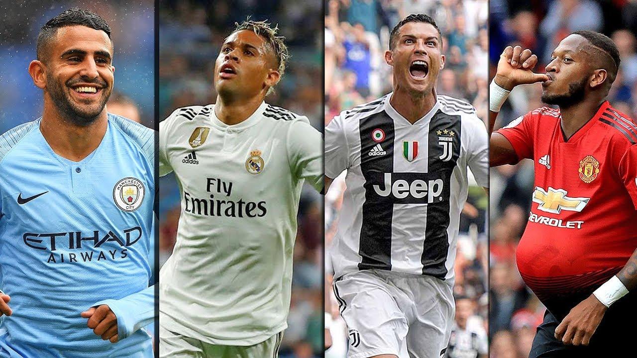 debut-first-goals-in-football-2018-19-season-top-transfers-ft-ronaldo-mahrez-fred-hd