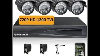 Defeway CCTV system review and basic set up