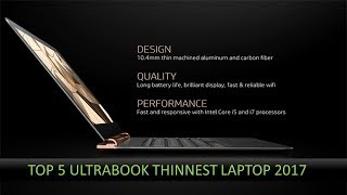 Top 5 Ultrabook Thinnest Laptop 2017