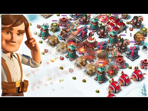 Boom Beach BARRAGE SPAM Destroying Bases!! RZCM Gameplay!
