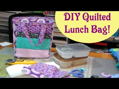 Diy Quilted Reversible Lunch Cooler Bag Youtube