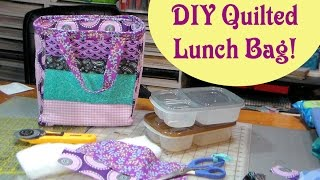 diy quilted reversible lunch cooler bag