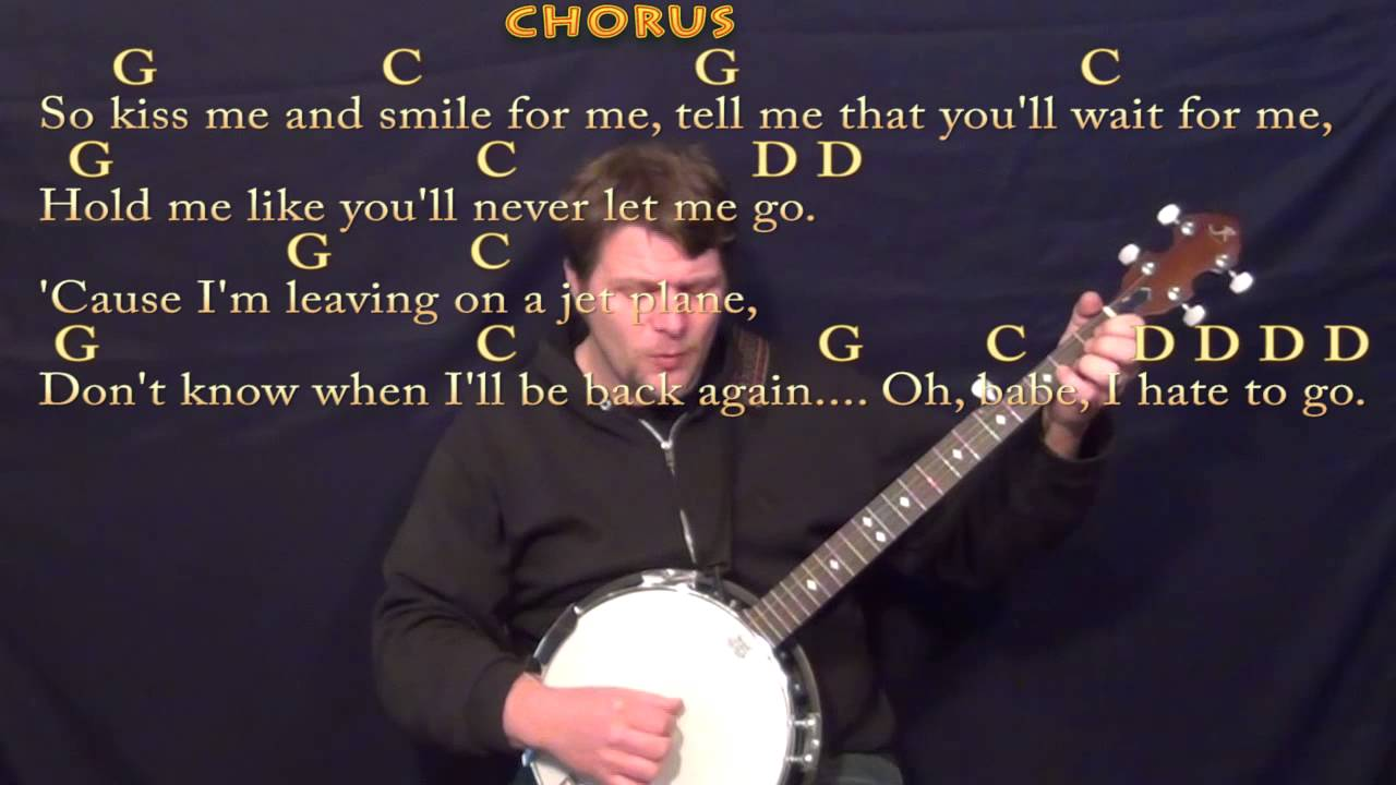 Leaving on a jet plane john denver banjo cover lesson with leaving on a jet plane john denver banjo cover lesson with chordslyrics hexwebz Gallery