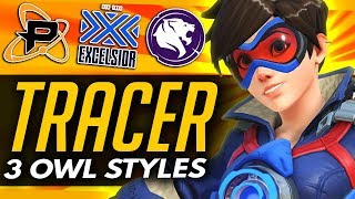 Overwatch | 3 Ways The Pros Play TRACER (Overwatch League Analysis)