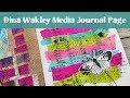 Dina Wakley Media Journal #2 - Art Journal Page for Beginners