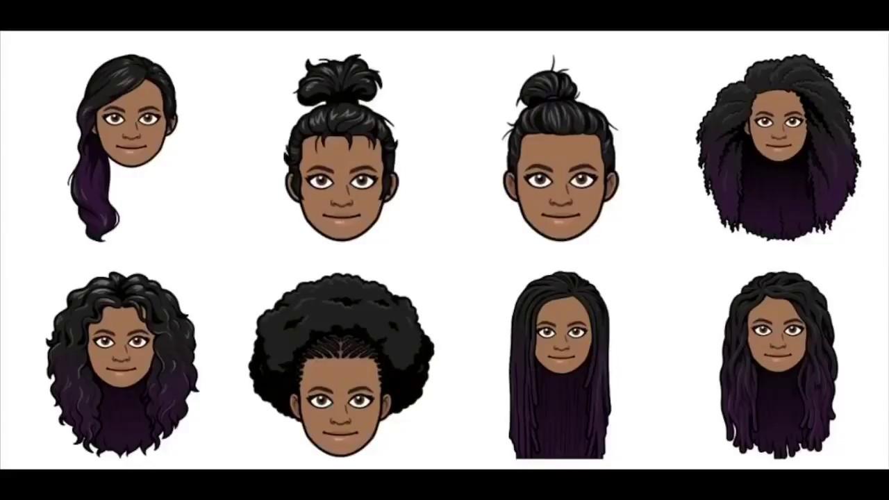 New Afro Hairstyles On Bitmoji Youtube