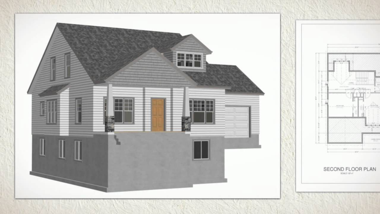 Cottage house plans 267 autocad dwg blueprints youtube Autocad house drawings