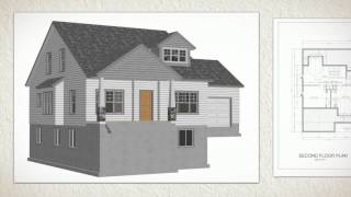 Cottage House Plans #267 Autocad Dwg Blueprints