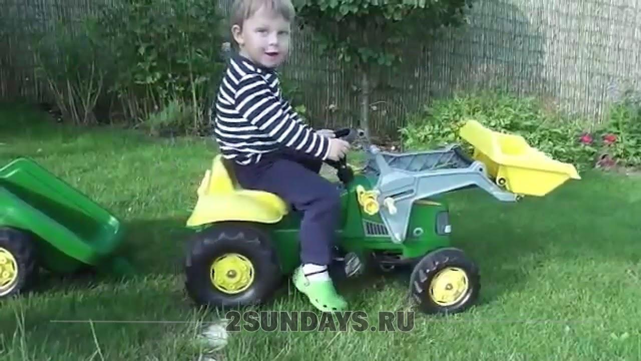 Ютубе для детей песенки трактор rolly toys