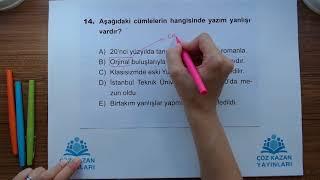 Çöz Kazan YGS 1Deneme Türkçe 14Soru