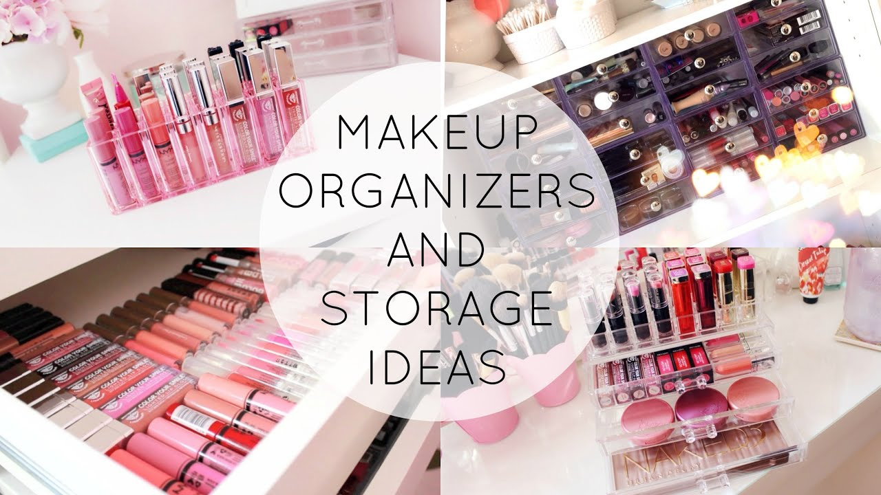 Tiny Bathroom Storage Ideas Makeup Organization And Storage Ideas Youtube