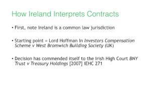 Delegation of Ireland: Interpretation of Contracts