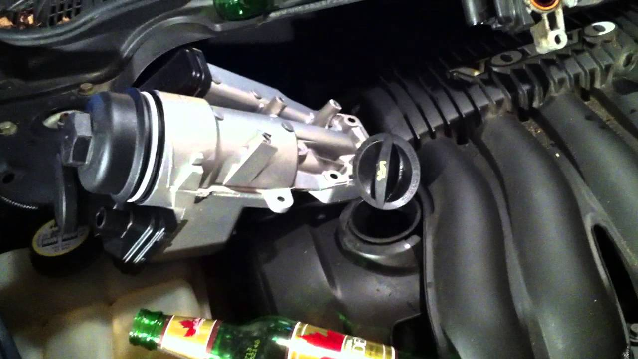 2007 Volvo s40 Oil breather filter replacement  YouTube