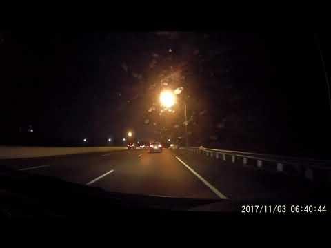 MD Interstate 83 exits 12 to 1 high mast streetlights (morning night)