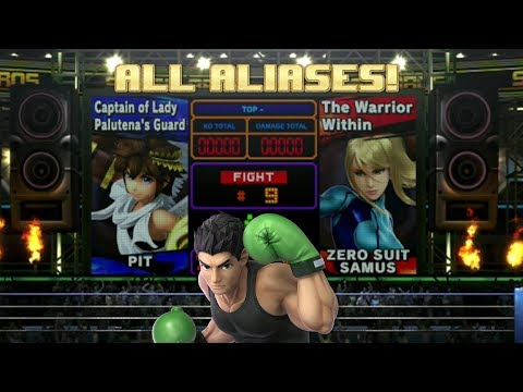 Super Smash Bros Ultimate: All Boxing Ring Aliases With Alt. Costume Easter Egg!