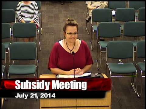 Subsidy Meeting - July 21, 2014