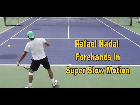 Rafael Nadal Forehands In Super Slow Motion - 960 and 480 frames per second!