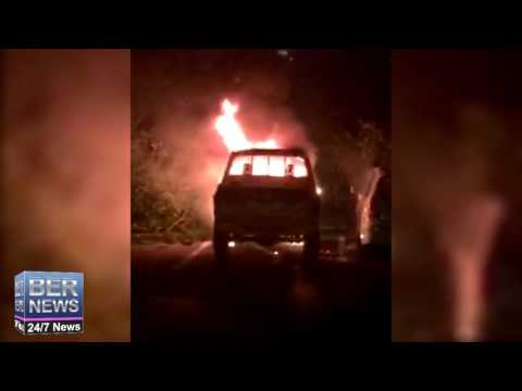 Truck Fire at Botanical Gardens, January 11, 2017