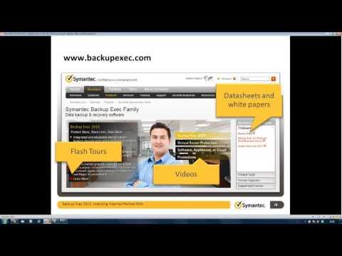 Symantec Backup Exec 2012 Webinar