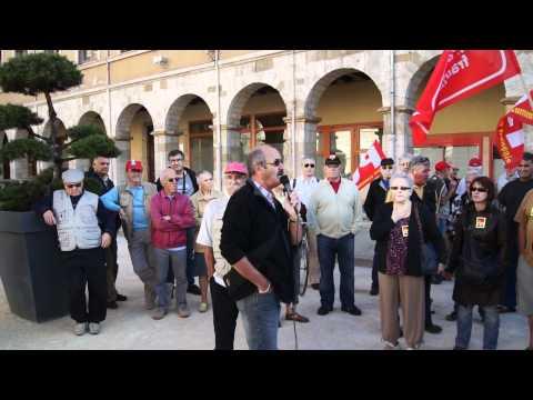 Manif retraités à Vienne (Isère) du 06 Octobre 2011