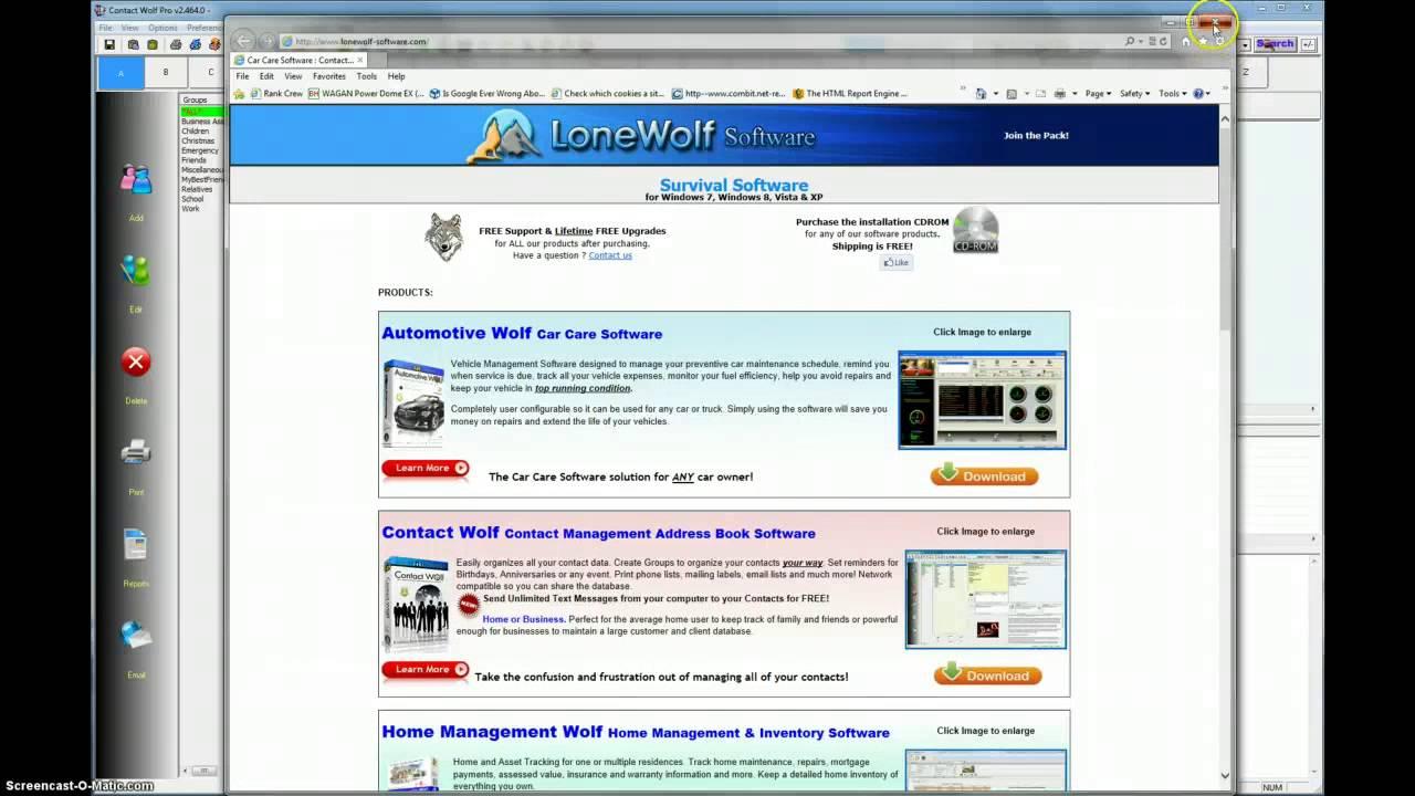 Contact Management Address Book Software Video Demos