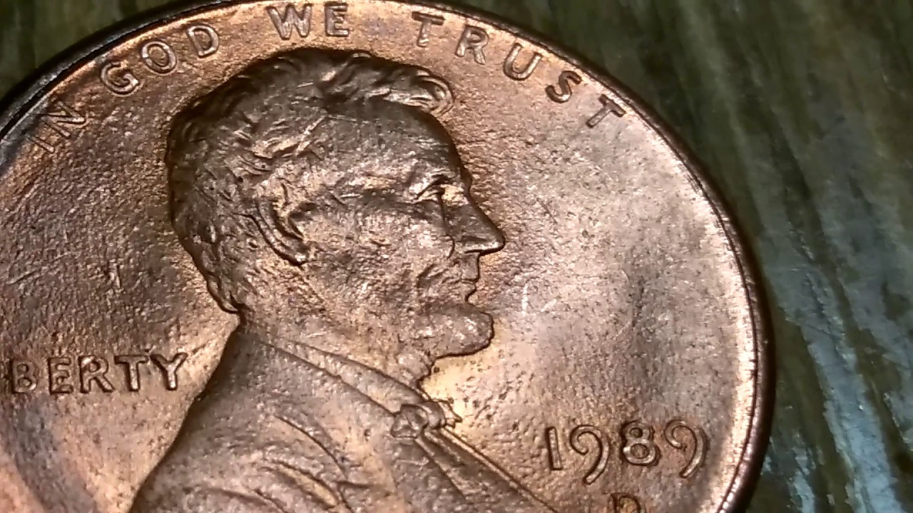 1989 penny double on 89 and ib in liberty on back some more