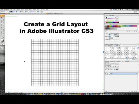 creating a grid in adobe illustrator cs3 youtube rh youtube com Logo Adobe Illustrator Logo Adobe Illustrator