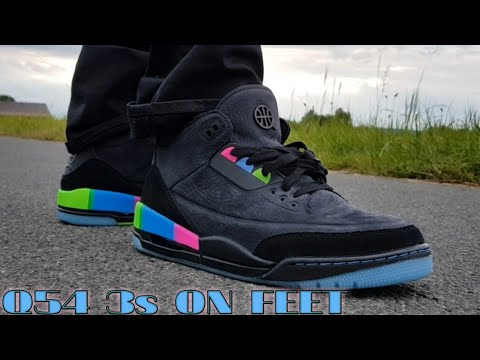Contratado Blanco Omitir  Q54 AIR JORDAN 3s ON FOOT!!*1st ON YOUTUBE * - YouTube