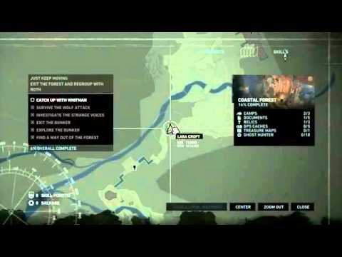 Tomb Raider 2013 - Coastal Forest All Collectibles with Map ...