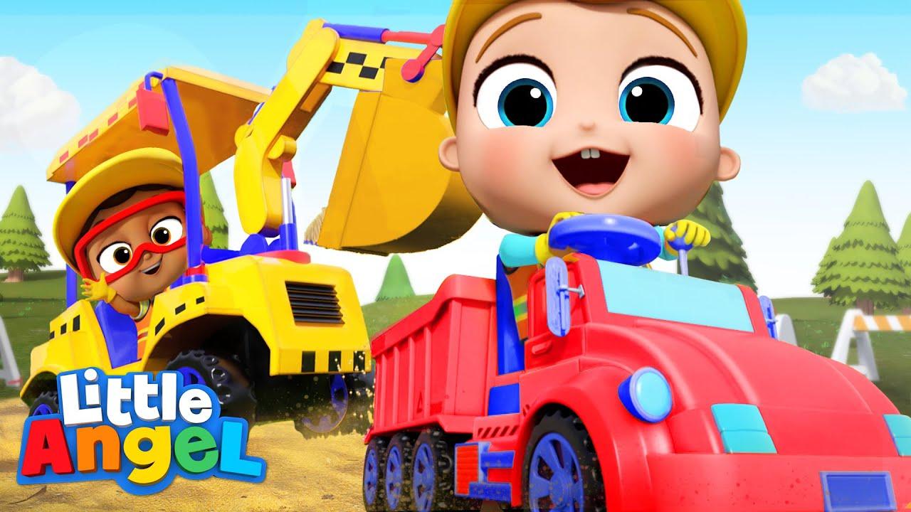 Construction Workers Song | Little Angel Kids Songs & Nursery Rhymes
