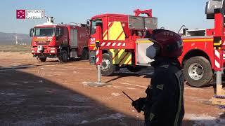 Una chispa, causa del incendio en un avión estacionado en el aeropuerto de Castellón