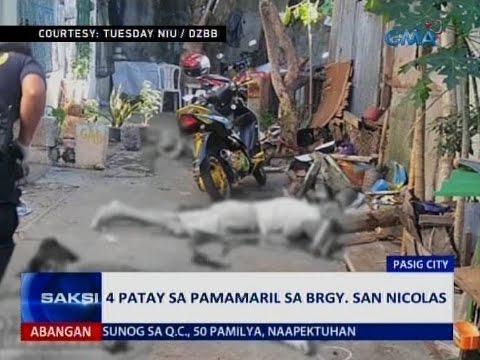 Saksi: 4 patay sa pamamaril sa brgy. San Nicolas