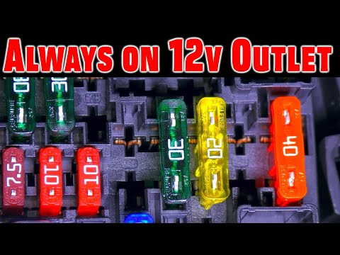 How To Make Your 12v Outlet Stay On ~ No Tools Required