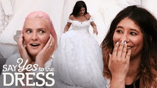Entourage Shocked by Dress the Bride Tries On! | Say Yes To The Dress UK