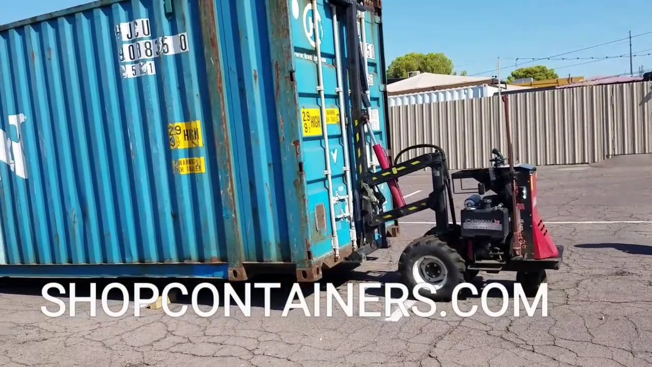 45 Foot High Cube Shipping Container Moved In Minutes With A Remote Control