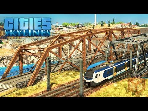 Cities: Skylines - На поезде к новому району! #34