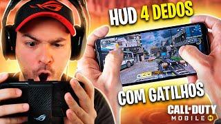 COD Mobile - Meu **HUD 4 DEDOS** com Gatilhos | Dicas no ROG PHONE 2