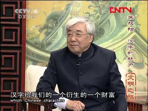 20120220 文明之旅 蘇叔陽 漢字的魅力 - YouTube