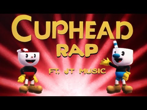 [ MMD ☕ Cuphead ] Cuphead Rap by JT Music (Short Animation)
